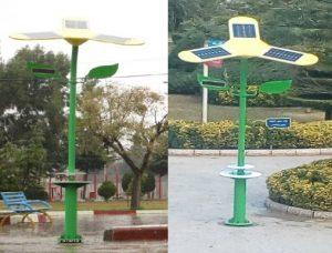 شارژر خورشیدی شهری با استفاده از انرژی خورشیدی